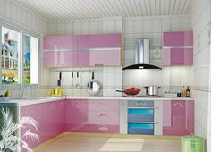 She loves pink?? Decorate your kitchen with amazing particle boards by #Associate #Décor. To know more about the usage a copy of #EWD would be more than enough. #An_Initiative_By_AssociateDecor  VISIT : http://www.associatedecor.in/