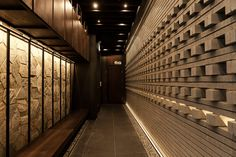 Kinka-izakaya Restaurant in Seoul. Restaurant Design, Cafe Restaurant, Zen Design, Wall Design, House Design, Architecture Panel, Interior Architecture, Interior Design, Oriental Restaurant