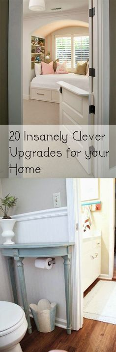 Woodworking Business 20 Insanely Clever Upgrades for your Home - 20 Insanely Clever Home Upgrades for Your Home. Gorgeous DIY home designs and tutorials. Home Renovation, Home Remodeling, Basement Renovations, Home And Deco, Diy Home Improvement, My New Room, Clever Diy, Easy Diy, Cheap Home Decor
