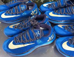 Nike KD VI Elite Blue Gold New Detailed Pictures