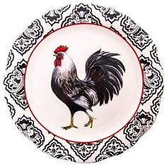 Left Facing Black Rooster Dinner Plate http://shop.crackerbarrel.com/Facing-Black-Rooster-Dinner-Plate/dp/B00P7ZNZK0