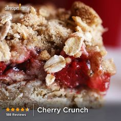 """Cherry Crunch   """"TEN stars! I made it for Father's Day and served with ice cream. Everyone went crazy for it! One of the easiest and most delicious desserts ever!"""""""