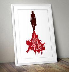 Game of Thrones Inspired Daenerys Print A3 by thedesignersnursery, $30.00 #gameofthrones, #asongoficeandfire, #khaleesi, #motherofdragons