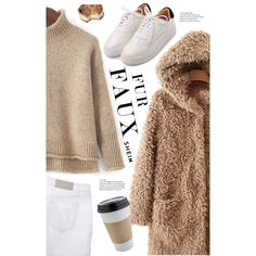 Keep it Cozy: Fuzzy Coats by meyli-meyli on Polyvore featuring мода, Victoria Beckham, OUTRAGE and fuzzycoats