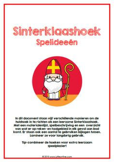Sinterklaashoek spelideeën Parchment Craft, Halloween, Kids Playing, Crafts For Kids, Party, Classroom, Teaching, Kale, December