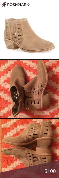 Vince Camuto Peera size 6 Suede. Cut outs. Worn once. Sold out!! Vince Camuto Shoes Ankle Boots & Booties