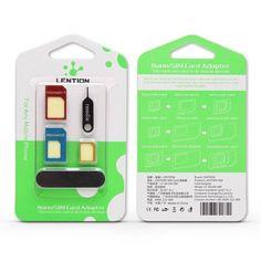 LENTION SIM Card Adapter Standard Nano Micro Sim Card For iPhone Smartphone #iphoneadapter,