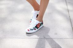 Stepping up your sneaker game with a cool design or detail is an easy way to update a simple pair of kicks, which will be a big trend for fall.