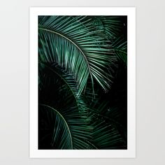 Palm Leaves 9 Art Print by Mareike Böhmer. Worldwide shipping available at Society6.com. Just one of millions of high quality products available.