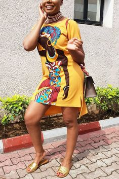 Stylish Dresses, Casual Dresses For Women, Clothes For Women, Mini Shirt Dress, Tee Dress, African Fashion Dresses, African Dress, African Girl, Ladies Day Dresses
