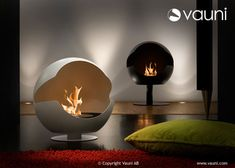 bio ethanol fireplace by vauni.  perfect for toasting marshmallows!