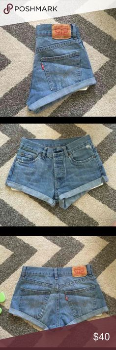 Levi high waist shorts Size 26 *size 0*  Brand new  I love these shorts but I ordered a size too small Levi's Shorts Jean Shorts