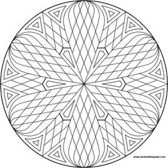 Don& Eat the Paste: Lattice mandala to color Simple Mandala, Geometric Mandala, Mandala Design, Mandala Coloring Pages, Coloring Book Pages, Coloring Sheets, Mandala Pattern, Zentangle Patterns, Op Art