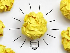 Photo about Inspiration concept crumpled paper light bulb metaphor for a good idea. Diet Recipes, Snack Recipes, Healthy Recipes, Feeling Discouraged, Crumpled Paper, I Believe In Me, Paper Light, Facebook Timeline, Motivation