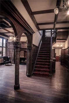 Pendrell Hall is a picturesque country house in Staffordshire. Perfect for any wedding that demands a luxurious feel. Can We Get Married, Country House Wedding Venues, Hall Interior, Entrance Hall, Wedding Ideas, Wedding Themes, Wedding Inspiration, Stairs, Luxury