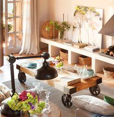 15 mesas de centro que ayudan a organizar el salón · ElMueble.com · Salones