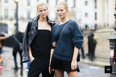 Kasia Struss and Anna Ewers - Paris