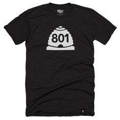 Utah 801 T-shirt (Crewneck) - Stately Type
