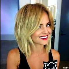 Trendy Straight Blonde Bob for 2015