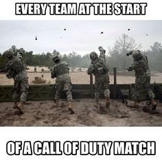 Every team at the start of a Call of Duty match