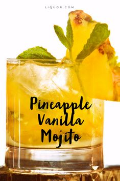 Apr 2020 - It's not traditional, but it is tropical and tasty. Try our Pineapple Vanilla Mojito cocktail recipe. Bar Drinks, Alcoholic Drinks, Beverages, Gold Drinks, Refreshing Drinks, Summer Drinks, Alcohol Drink Recipes, Vanilla Vodka Recipes, Vanilla Vodka Drinks