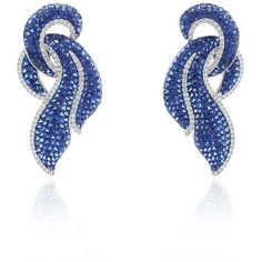 Giovane Invisible Set Blue Sapphire Earrings (750.449.800 VND) ❤ liked on Polyvore featuring jewelry, earrings, blue sapphire jewelry, 18k jewelry, 18 karat gold earrings, 18 karat gold jewelry and round earrings