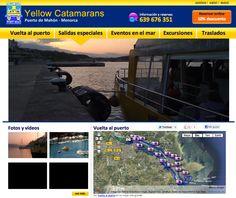 Yellowcatamarans.com, venta online de excursiones en barco por el Puerto de Mahón