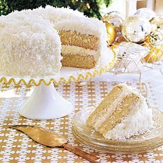 This moist, 2-layer Coconut Layer Cake is worthy of any special occasion. With sweetened flaked coconut in the filling and sprinkled on the top and sides of the cake, it makes a striking presentation.