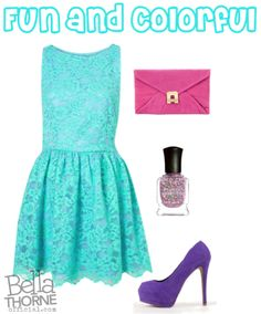 fun and colorful prom dress outfit