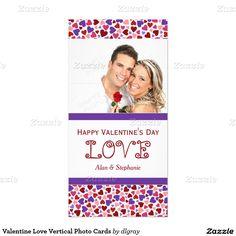 Valentine Love Vertical Photo Cards