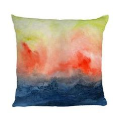 "Watercolor-inspired pillow from DENY Designs.   Product: PillowConstruction Material: Woven polyesterColor: MultiFeatures:  Hidden zipperInsert includedMade in the USA Designed by Jacqueline Maldonado for DENY Designs Dimensions:  Small: 16"" x 16""Medium: 18"" x 18""Large: 20"" x 20""Cleaning and Care: Spot clean with mild detergent"