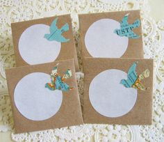 Map Birds Mini Envelopes