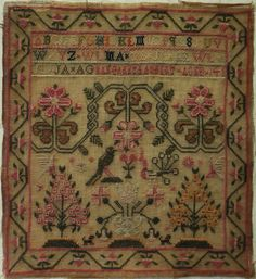 EARLY 19TH CENTURY, PROBABLY SCOTTISH, SAMPLER BY MARGARET LAMBERT c.1845
