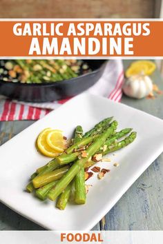 In this simple side dish, asparagus is blanched until tender, then sauteed in melted butter and garlic. Toasted almonds on top add nuttiness and an unexpected crunch that brings these green spears to life. Read more now to add this recipe to your collection of vibrant veggies. #asparagus #asparagusrecipe #foodal Quick Side Dishes, Healthy Side Dishes, Side Dish Recipes, Easy Recipes, Creamy Corn Casserole, Healthy Vegetables, Veggies, Toasted Almonds
