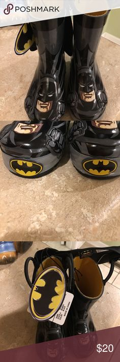 Boys batman rain boots Brand new! Comes with original tags and box. These are western Chief brand boys batman rain boots. Size 6. Western Chief Shoes Rain & Snow Boots