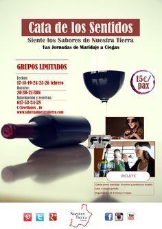 Cata de los Sentidos Info y reservas www.tabernanuestratierra.com