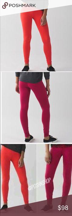 REVERSIBLE Lululemon Wunder Under III NWT 10 Pants REVERSIBLE Lululemon Wunder Under III NWT 10 Pants. Cranberry/orange lululemon athletica Pants