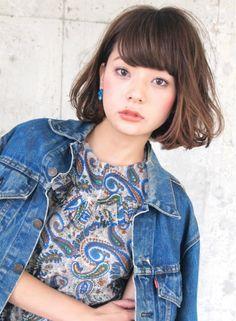 外国人風アンニュイボブ 【LOAVE AOYAMA】 http://beautynavi.woman.excite.co.jp/salon/26916?pint…