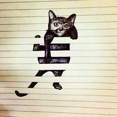 Pussy cat #seni #art #gambar #lukis #cat