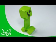 for Connor's Market Day Project  | Minecraft Creeper Origami - YouTube