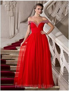 44737d07faf Australia Formal Evening Dress Prom Gowns Military Ball Dress Ruby Plus  Sizes Dresses Petite A-line Princess Off-the-shoulder Sweetheart Long  Floor- ...