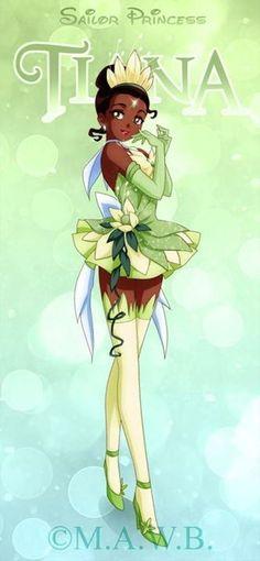 Les personnages féminins de Disney en mode Sailor Moon - Tiana
