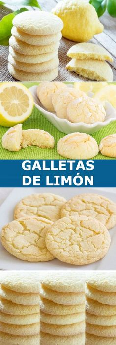 🔥Lemon biscuits: ask your children to help you make them and then you enjoy them all together If you like tell us HELLO and give LIKE LOOK . Italian Desserts, Mini Desserts, Just Desserts, Good Healthy Recipes, Sweet Recipes, My Recipes, Mexican Food Recipes, Cookie Recipes, Dessert Recipes