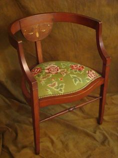 Victorian needlepoint chair