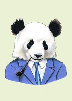 Etsy の Panda print 5x7 by berkleyillustration