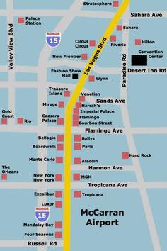 Las Vegas Hotel Map