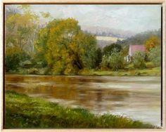 Petr Kellner (petrkell) - Berounka- Nižbor, plátno 50x40cm