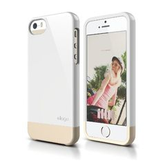 elago S5 Glide Case Limited-Edition for iPhone 5/5S - eco friendly Retail Packaging (White / Champagne Gold)