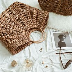 """0026e4f453c85 C O on Instagram  """"Our essential hand woven basket handbag and gold  jewellery ➰"""