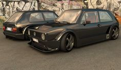 black 80's volkswagen golf gti body kit - Google Search